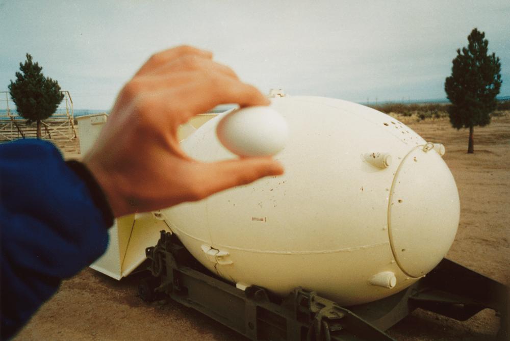 Atombombe und Ei